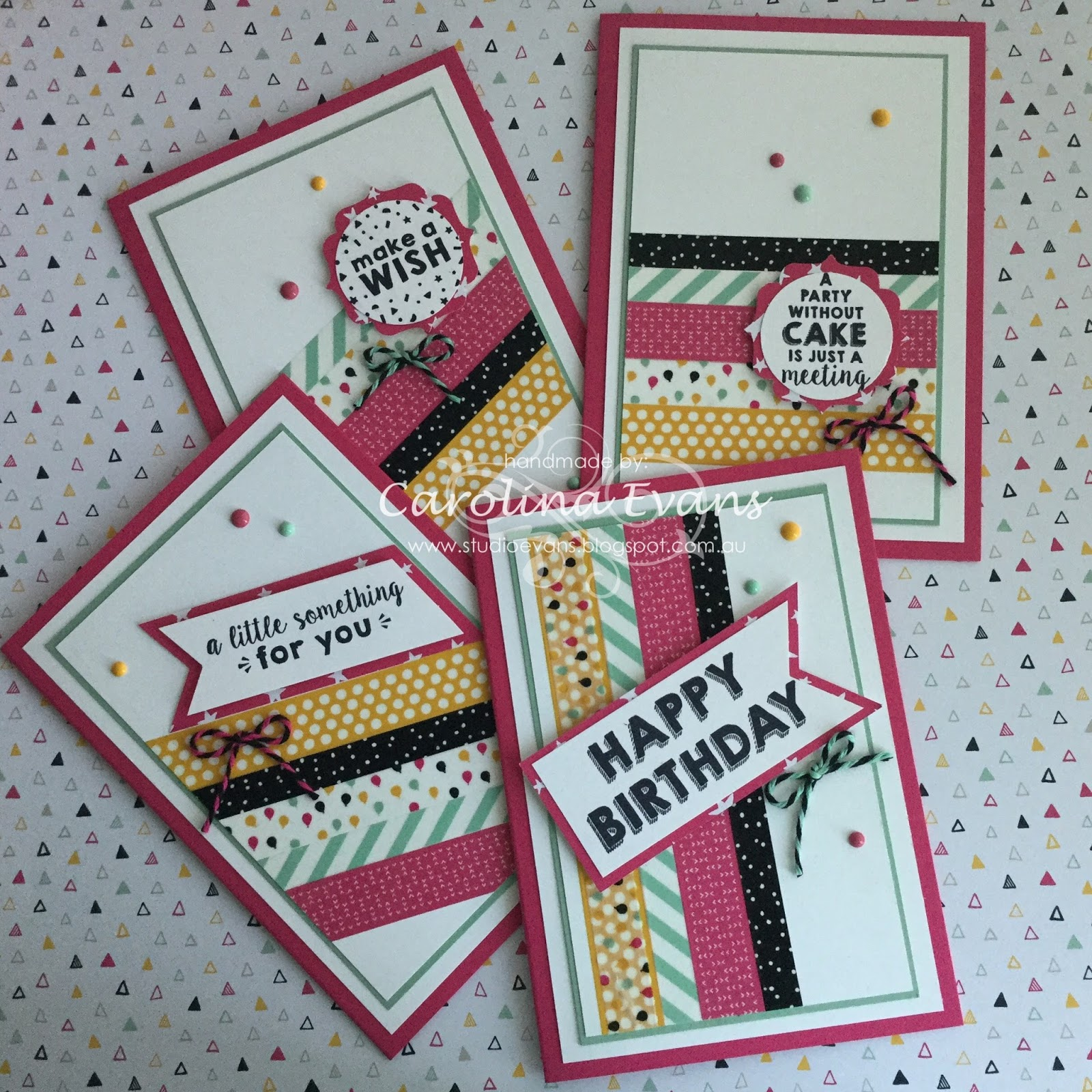 Carolina evans stampin up demonstrator melbourne australia stacks of birthday cards its my party suite bookmarktalkfo Choice Image