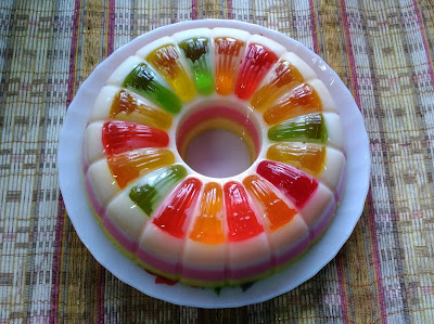 Agar-agar Jelly Tiga Layer
