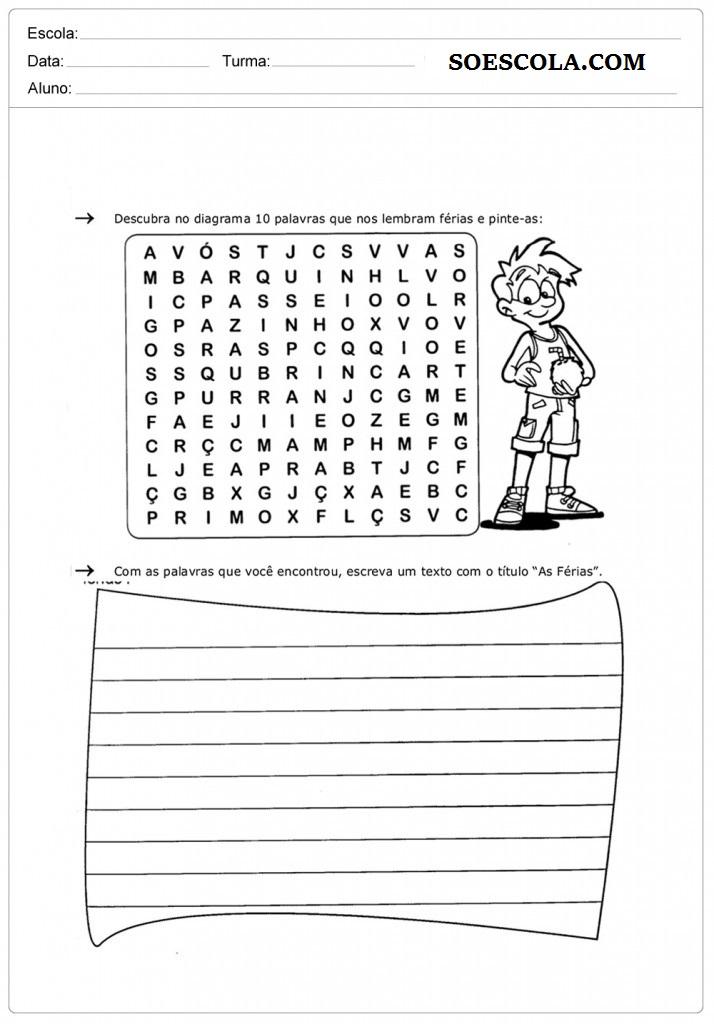 Atividades para Professores Atividades para Imprimir Atividades Educativas Atividades para Alfabetização Infantil Atividades de Interpretação de Textos para Imprimir Atividades para Imprimir