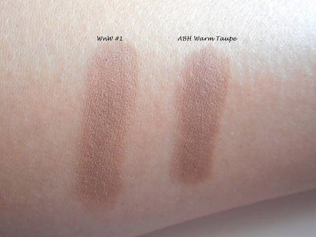 Wet n Wild Color Icon Rose in the Air #1 vs ABH Modern Renaissance Warm Taupe