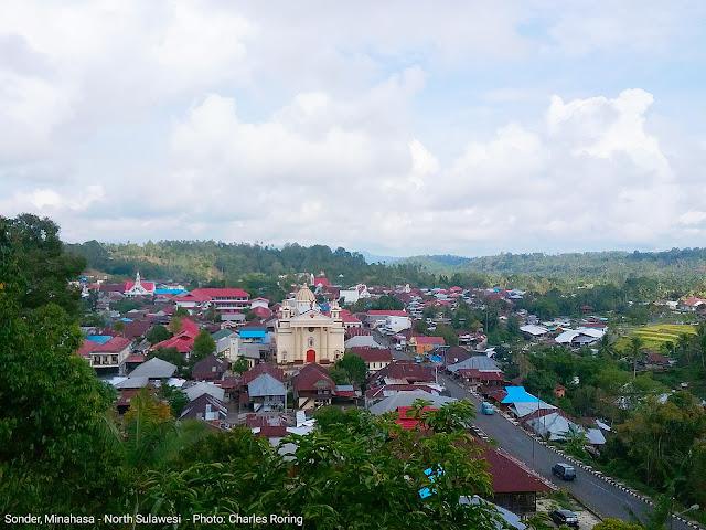 Sonder town in Minahasa regency