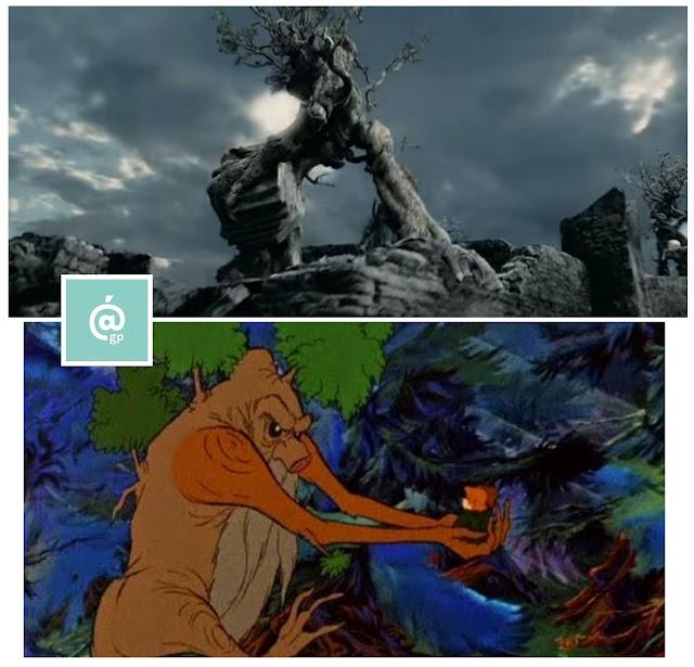 Ents - El Señor de los Anillos: Peter Jackson Vs Ralph Bakshi - JRRTolkien - ÁlvaroGP - el fancine - el troblogdita