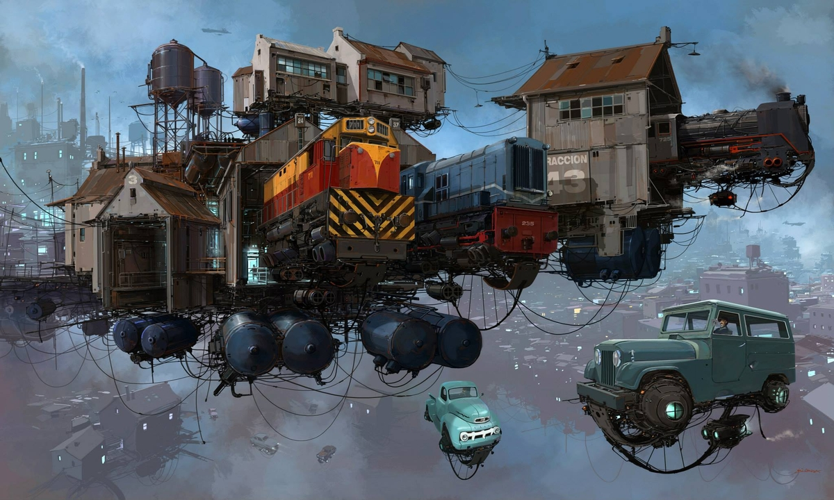18-Trenes-Trains-Alejandro-Burdisio-Fantasy-Illustrations-in-the-Scrap-Metal-Universe-www-designstack-co