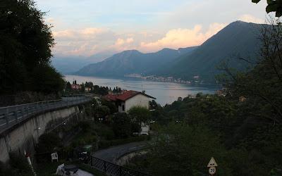 Puesta de sol en el lago de Como