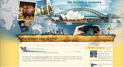 Segundo template do blog De Turista a Viajante