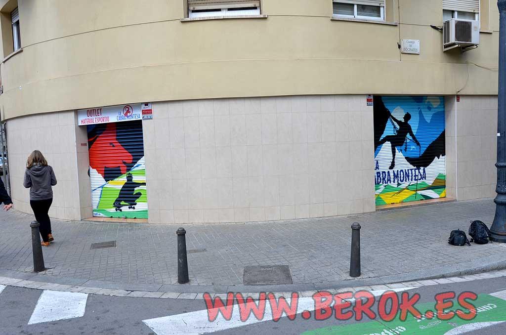 Berok graffiti mural profesional en barcelona graffiti - Barrio de sant andreu ...