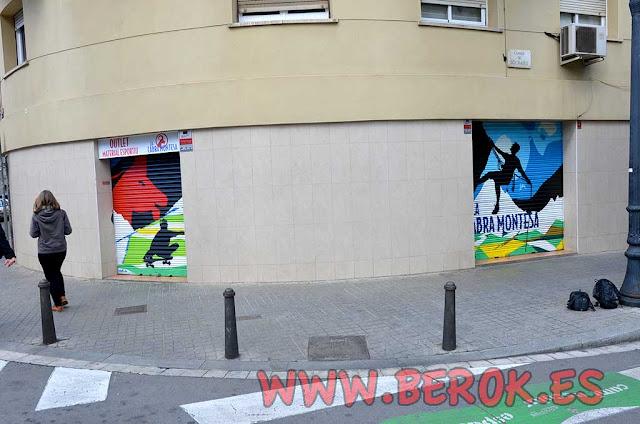 Graffiti persianas Sant Andreu de Barcelona