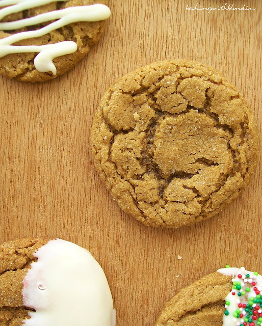 White Chocolate Dipped Ginger Cookies Baking With Blondie