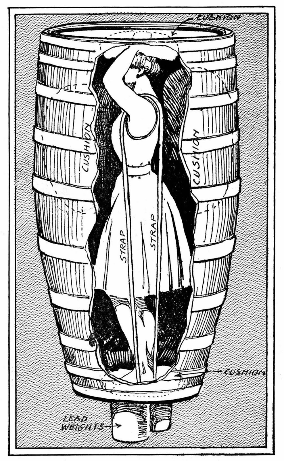 Anne Edson Taylor's barrel design. 1901.