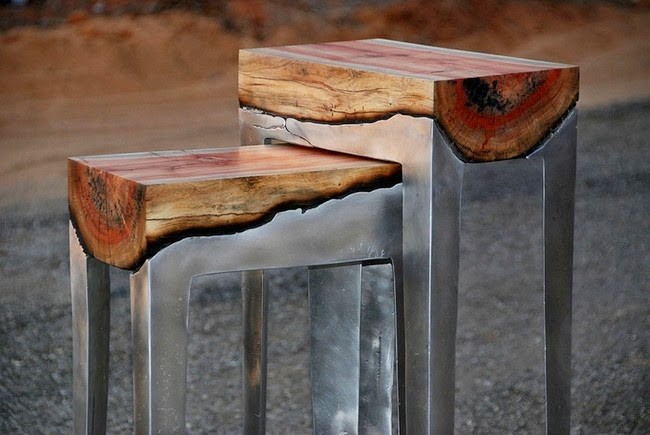 Wood And Aluminum Tables
