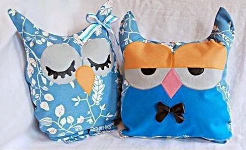 Kerajinan Tangan  Boneka Bantal Owl Kain Perca