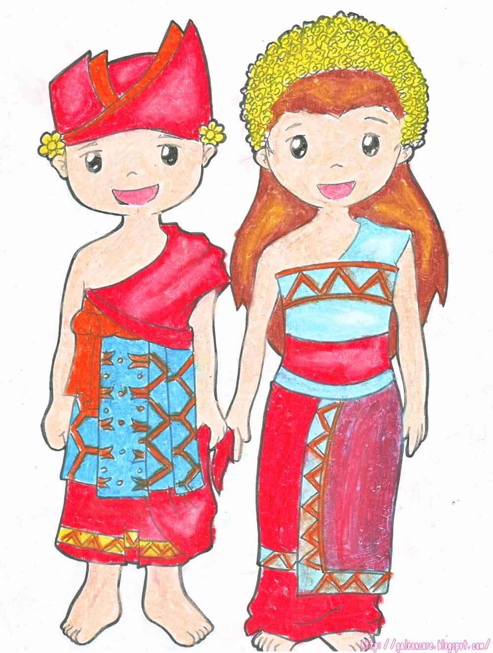 Baju Adat Jawa Timur Kartun