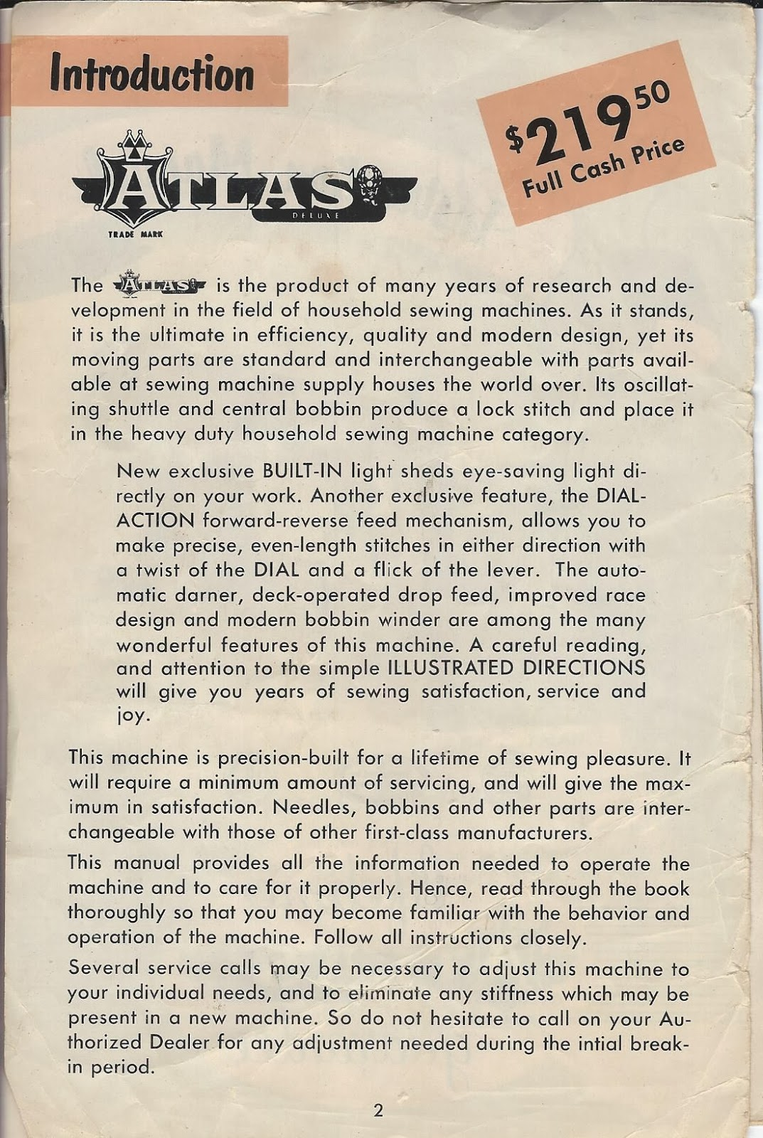 Atlas sewing machine from the 1950's | collectors weekly.