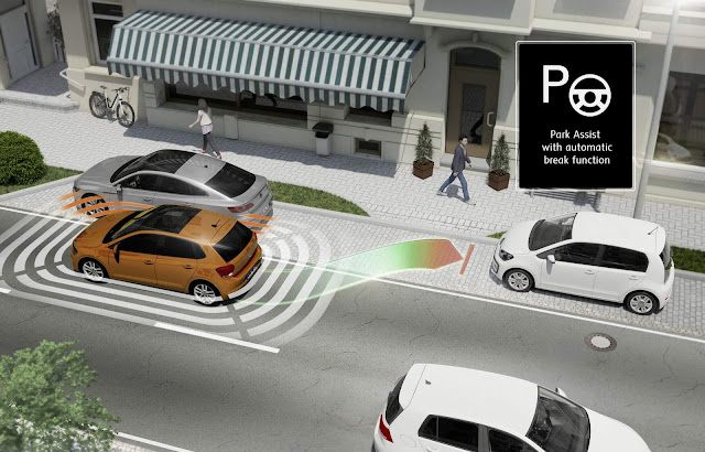 Novo VW Polo 2018 - Assistente de estacionamento com função de freio