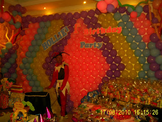 Backdrop Dari Balon, Backdrop ultah, Balon ualang tahun