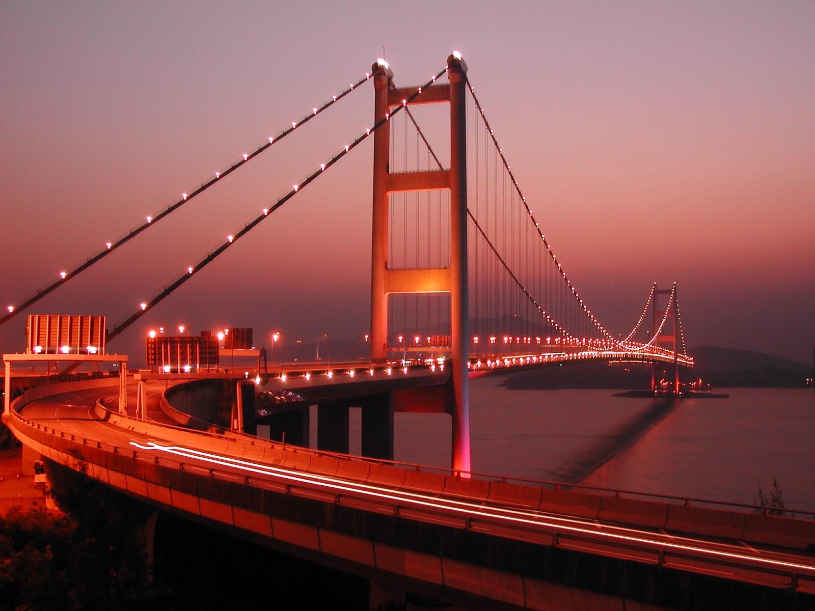 桌布下載: 香港青馬大橋夜景