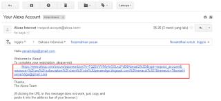 verifikasi email akun alexa