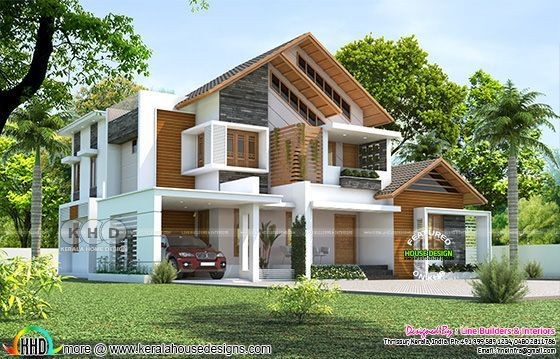 3116 sq-ft beautiful modern contemporary 4 BHK house