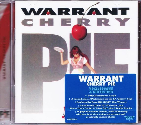WARRANT - Cherry Pie [Rock Candy remastered +5] (2017) full