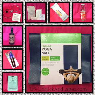 yoga mat, hint water, monthly subscription,
