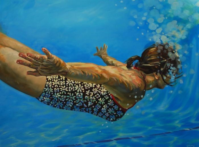 Картины женских фигур в воде