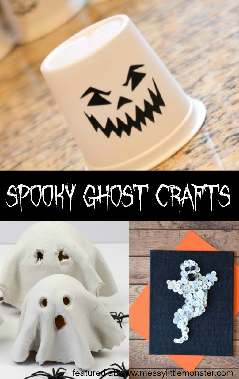 12 spooky halloween ghost crafts for kids. These easy halloween craft ideas would make great decor for a halloween party!