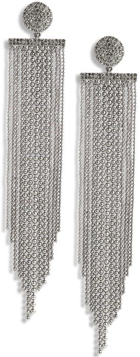 KATE SPADE NEW YORK glimmer shimmer fringe earrings