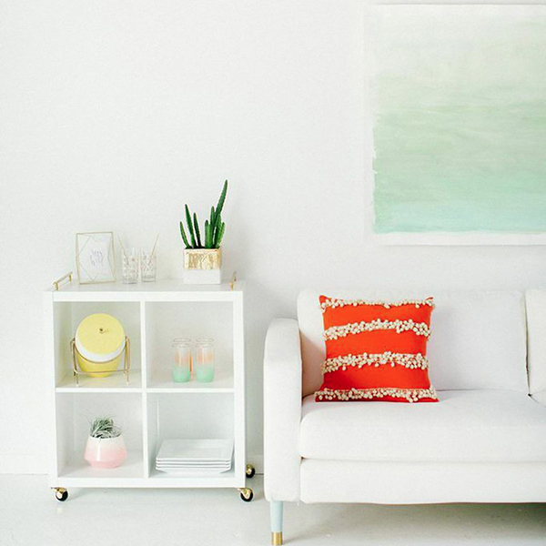 DIY: Como pintar un lienzo de acuarela