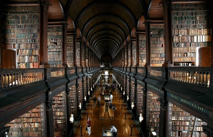 14. Trinity College Library, Dublin, Ireland - 31 Incredible Libraries and Bookstores Around the World