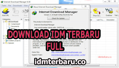 Download IDM Terbaru 6.30 Build 10 full Tanpa Registrasi Gratis