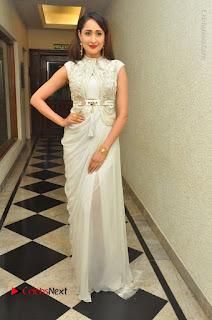 Actress Pragya Jaiswal Stills in Beautiful White Dress at turodu Audio Launch  0035.JPG