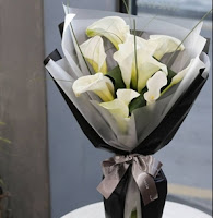 K'Mich Weddings - wedding planning - wrap white calla lilies floral design - wedding flowers