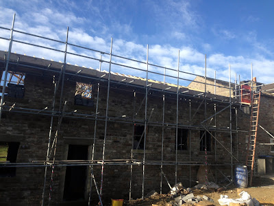 New Build Construction Scaffolding Highforce Barnard Castle