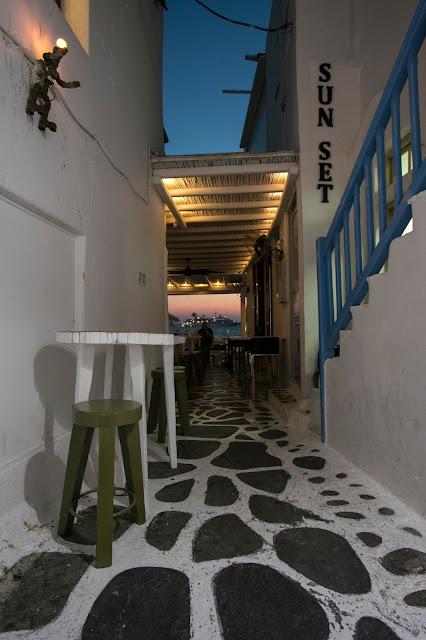 Mykonos town di sera