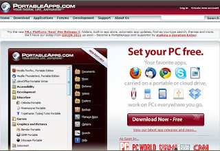 portable software webesite image
