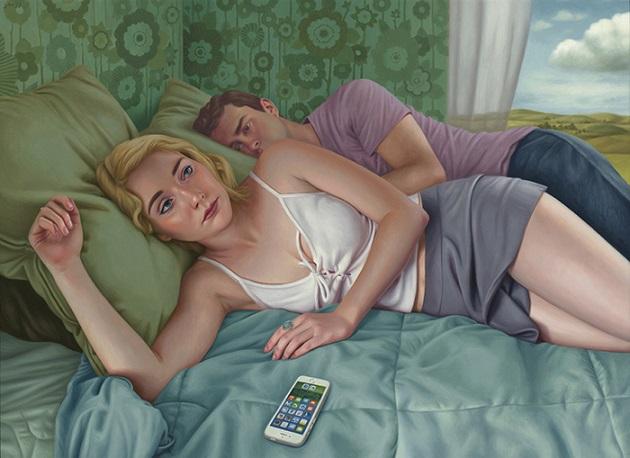 "por Alex Gross - ""Suspicion"", 2016. | obras de arte contemporaneo, pinturas figurativas, art pictures inspiration"