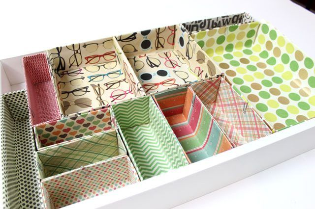 despartitoare carton dividers cardboard organizing