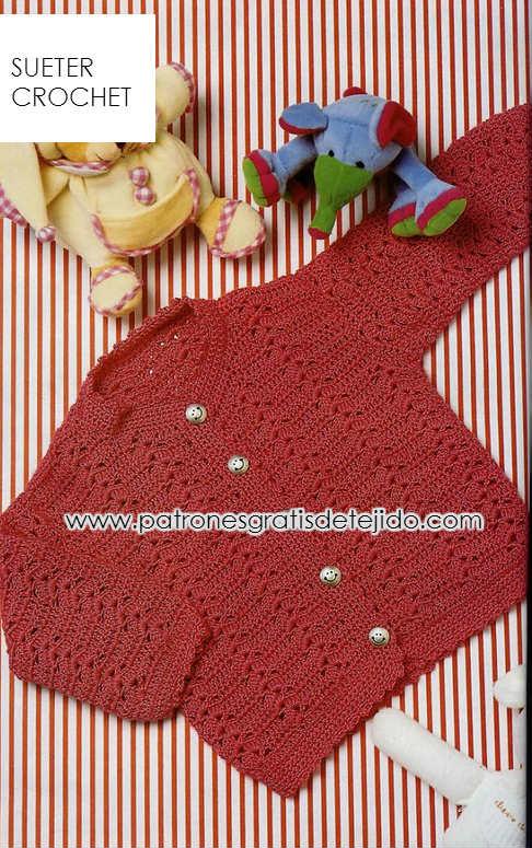 moldes y patrones de sueter de bebe para tejer a crochet