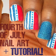 2 Easy Fourth of July Nail Art Designs and Tutorial