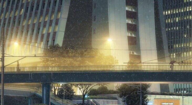 Meeting on the bridge in Kimi no Na wa