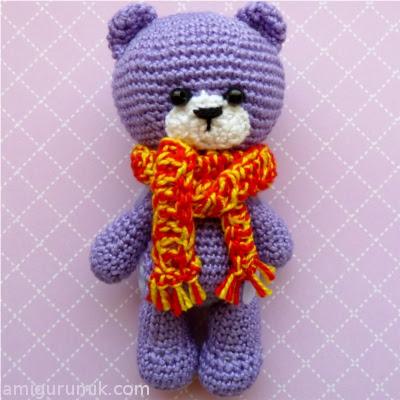Амигуруми медвежонок