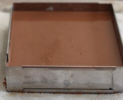 مربعات الشوكولاتة بالمالتيزر