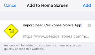 Add Dead Zones Mobile App to Home Screen
