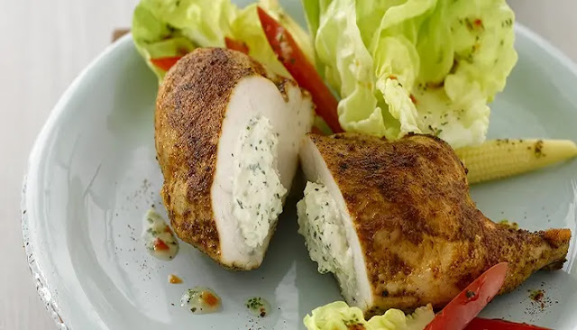 Pollo Relleno Estilo Mediterráneo