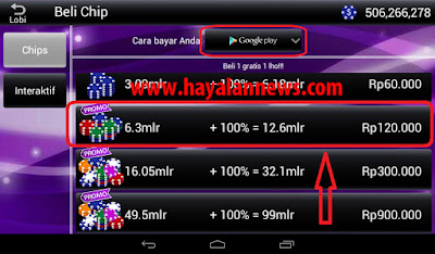 Cara gratis beli chip Luxy Poker Android dengan Kartu Hadiah Playstore