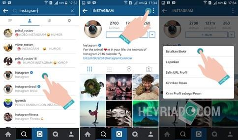 Fitur blokir pengguna yang dimiliki Instagram Cara Unblock Orang Di Instagram