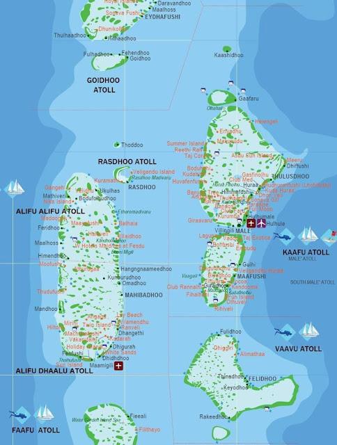 Maldives Rangali Island Map