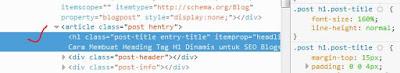 merupakan ikhtiar memperkuat SEO blog supaya lebih gampang dan cepat terindeks mesin pencari Cara Membuat Heading Tag H1 Dinamis untuk SEO Blog