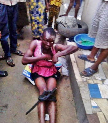 Kidnapper Disguised As A Lady Caught In Rivers (Photos)