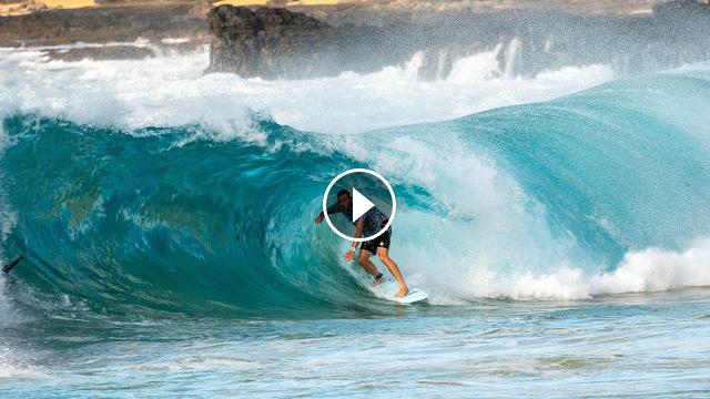 PERFECT SHORE BREAK AT SANDY BEACH